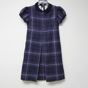2009 Papo d' Anjo wool pleated plaid dress